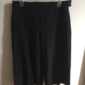 Thalian Black Gaucho Pants; Sz 8